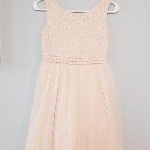 Blush girls dress.